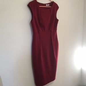 Gorgeous red fitted Calvin Klein work dress